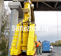 Подъем моста порталами