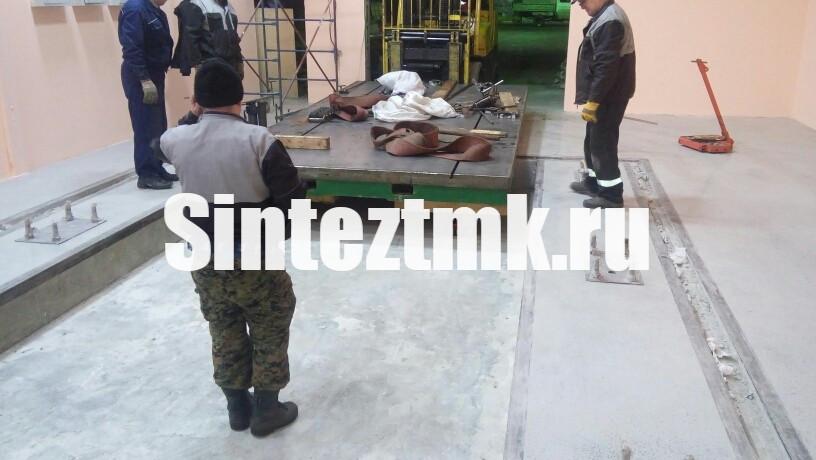 Монтаж плиты измерительной машины