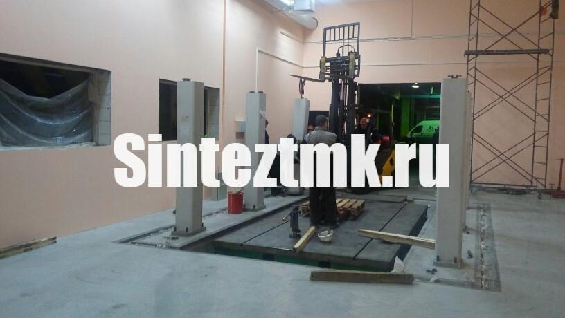 Установка стоек измерительной машины