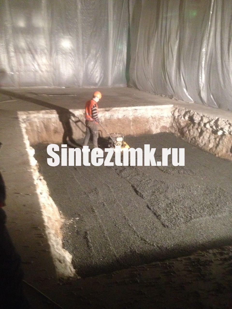 Уплотнение бетонного основания