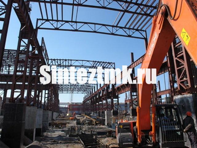 Монтаж каркасов промышленных зданий