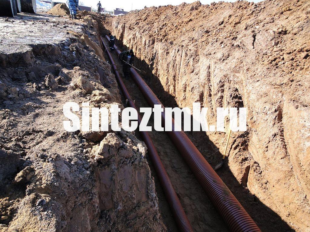 Прокладка наружных сетей ливневой канализации