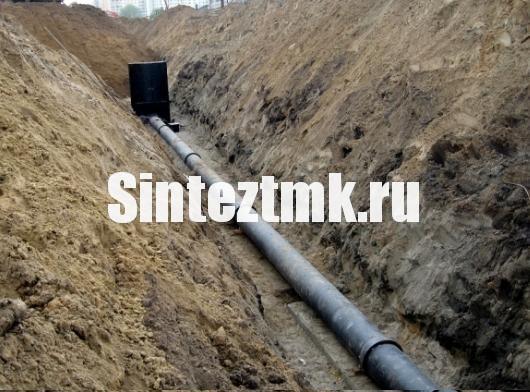 Прокладка наружный сетей канализации