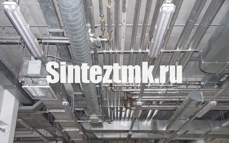Прокладка внутренних  инженерных систем в складах