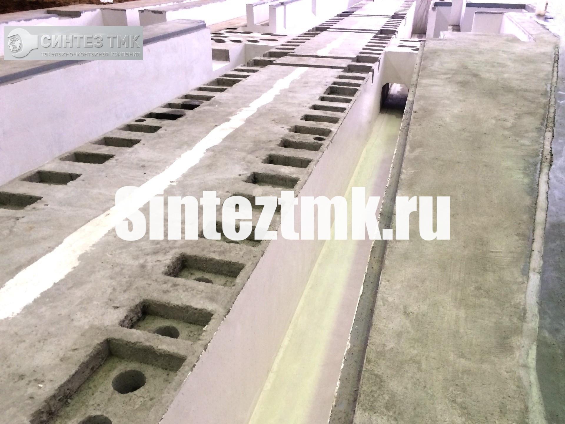 Сложный промышленный фундамент с каналами