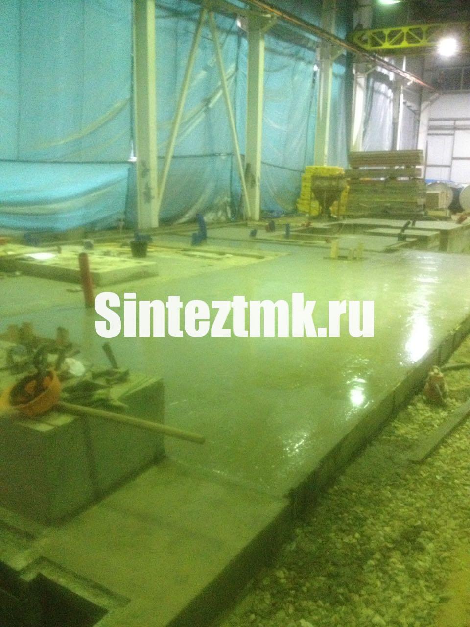 Заливка бетонной фундаментной плиты