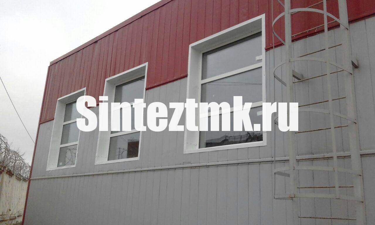 Установка оконных конструкций на фасаде