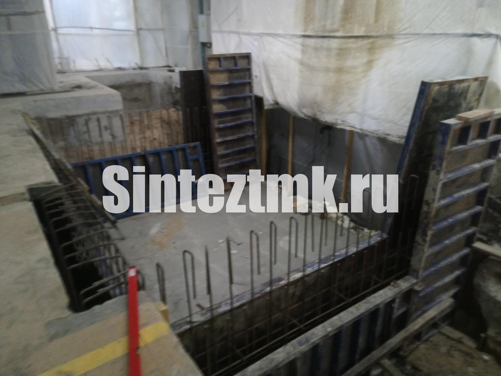 Послойное бетонирование фундамента ФМ-3