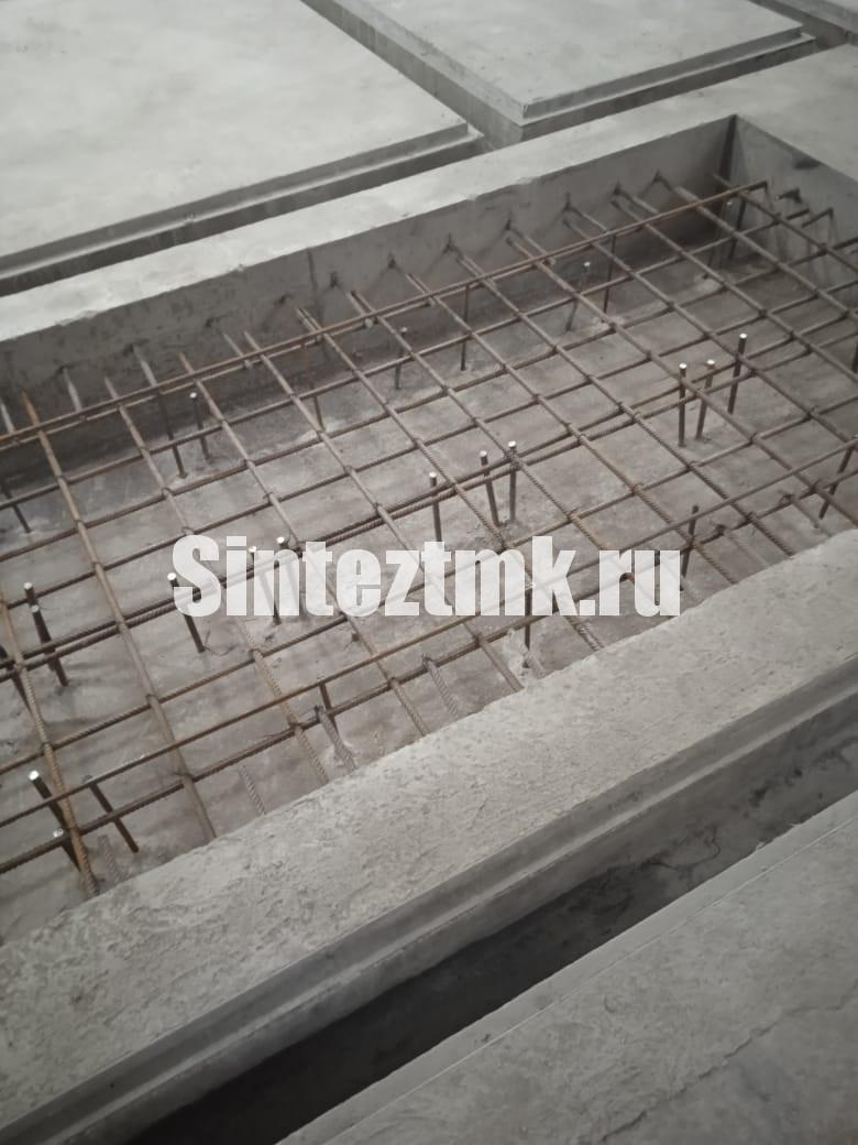 Армирование приямка и подготовка к послойному бетонированию